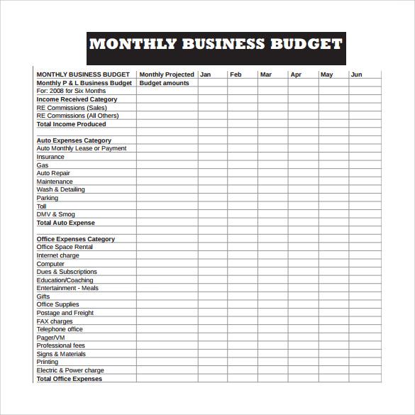 Business Budget Template | Template Business