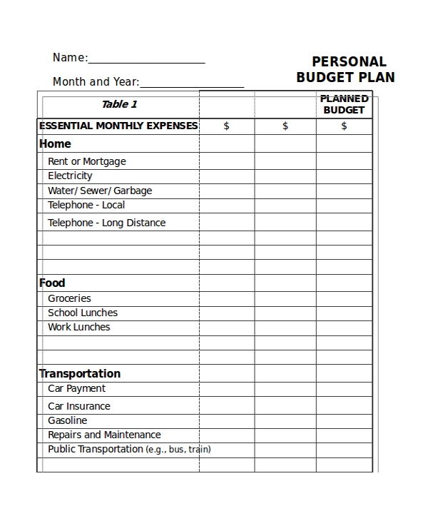31+ Excel Monthly Budget Templates   Word, Excel, Pages | Free