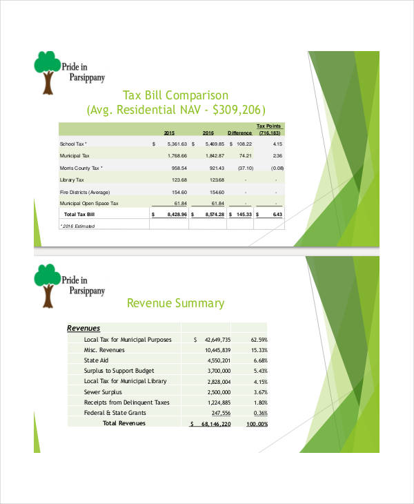 Budget Presentation Templates   Free PDF Documents Download | Free