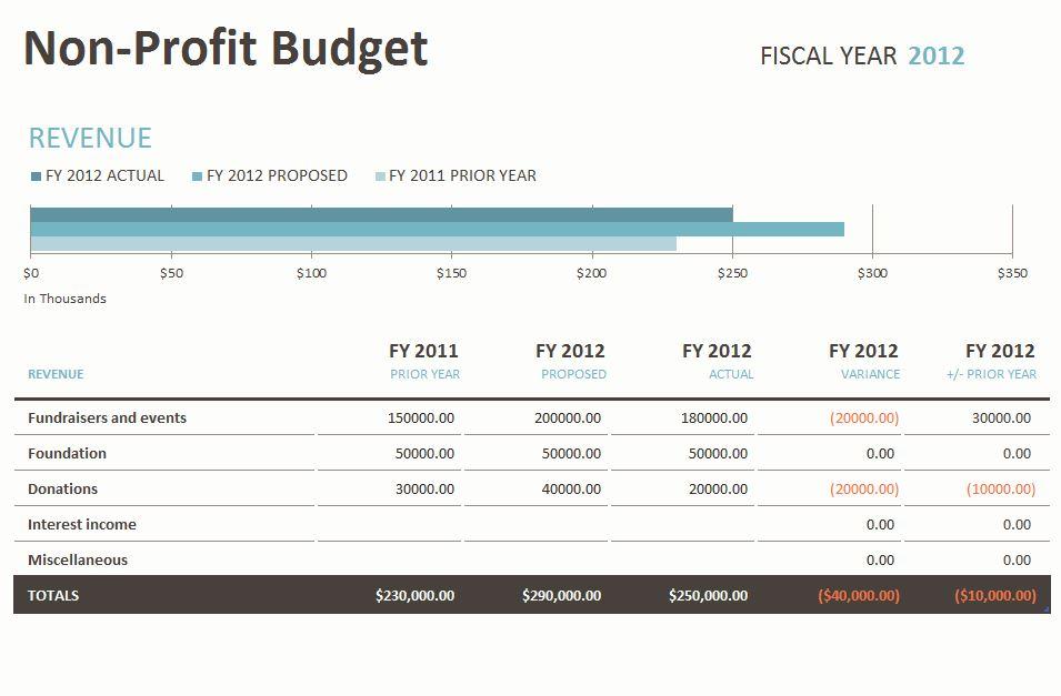 Nonprofit Budget Template | Nonprofit Budget