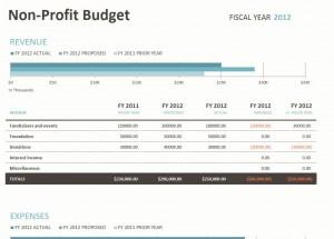 Non Profit Budget Template | Non Profit Budget Spreadsheet