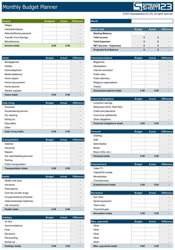 Free Printable Personal Budget Worksheet |  Personal budget