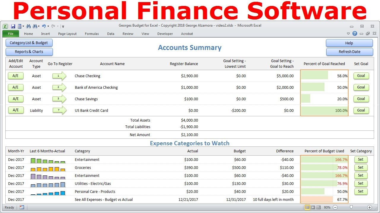 Top Budget Software, Personal Finance Software, Simple Budget