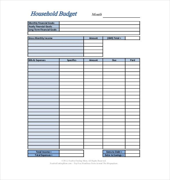 Home Budget Template Format , Simple Personal Budget Template