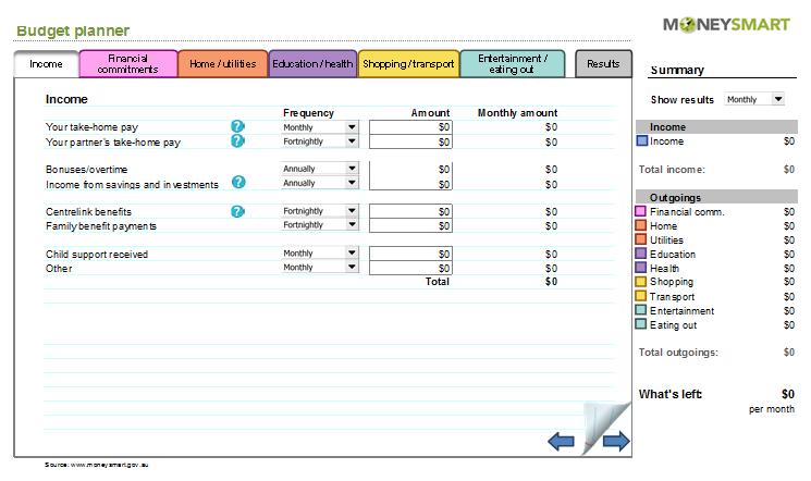 Professional Budget Calculator   Budget Templates