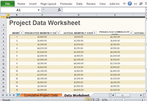 Project Budget Template   Download Free Excel Template