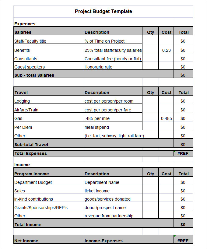 10+ Project Budget Templates   Word, PDF, Excel | Free & Premium