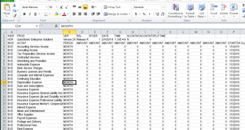 Create or Edit your QuickBooks Budget in Excel   Experts in