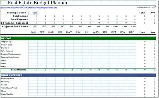 real estate budget template real estate budget template excel