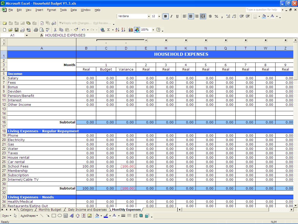008 Plan Templates Sample Budget Template Excel 20sample Wedding