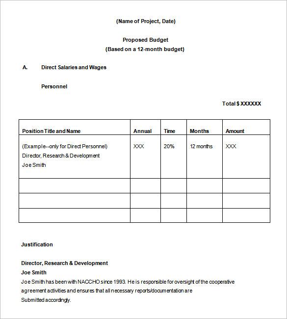 17+ Project Budget Templates   Docs, PDF, Excel | Free & Premium