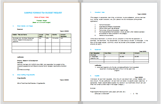 Budget Proposal Template   22+ Free Sample, Example, Format