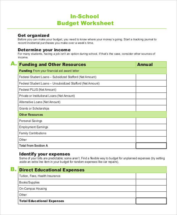 9+ School Budget Templates   Word, PDF, Excel | Free & Premium