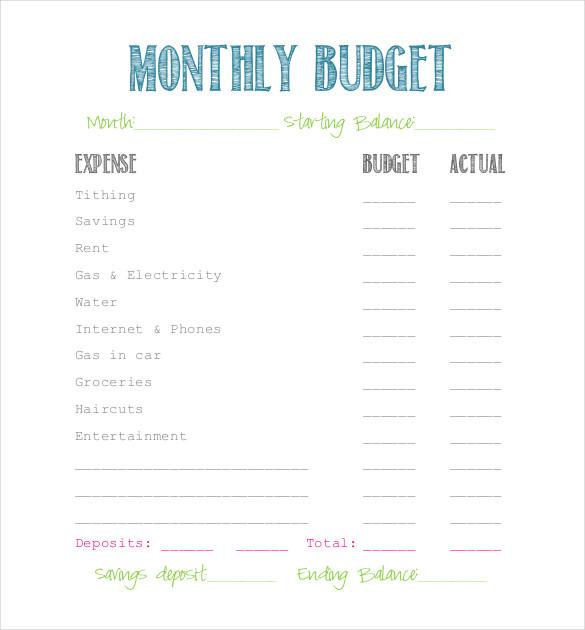 simple budget examples   Monza.berglauf verband.com