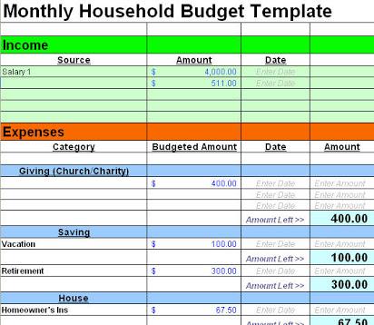 budget template simple   Monza.berglauf verband.com