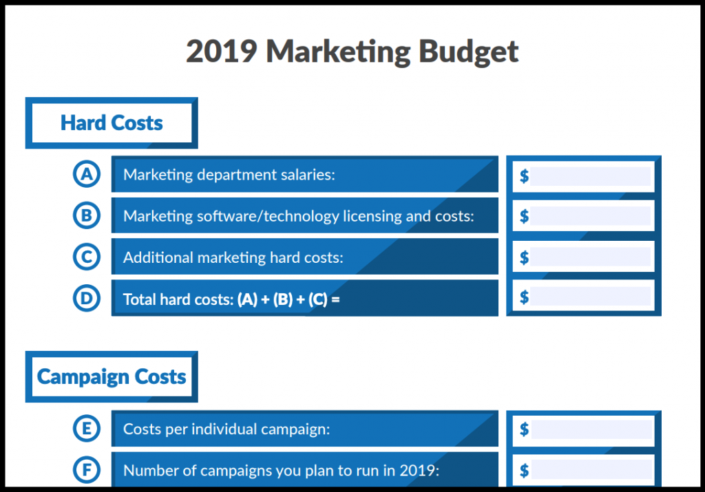 7 Free Marketing Budget Templates   Marketing.com.au