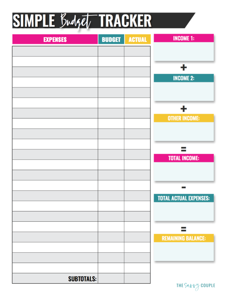 Simple Monthly Budget Tracker (Digital & Printable) | Printables