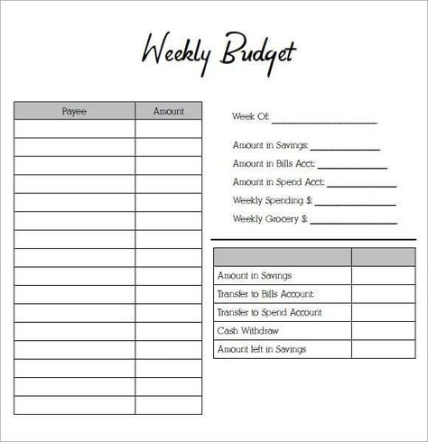 simple weekly budget | Simple Budget Template   14+ Download