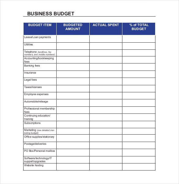 Small business Budget Templates | 10+ Free Xlsx, Doc & PDF