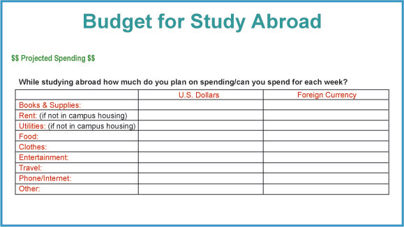 StudentsAbroad.  Study Abroad Handbook Worldwide: Financing