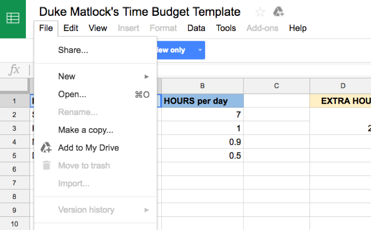 How to Create a Time Budget   Duke Matlock Executive Coach