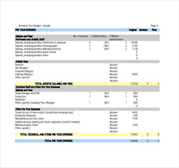 10+ Travel Budget Worksheet Templates   PDF, Docs | Free & Premium