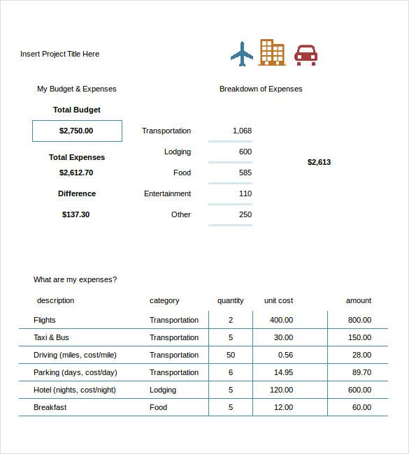 excel travel budget template   Monza.berglauf verband.com
