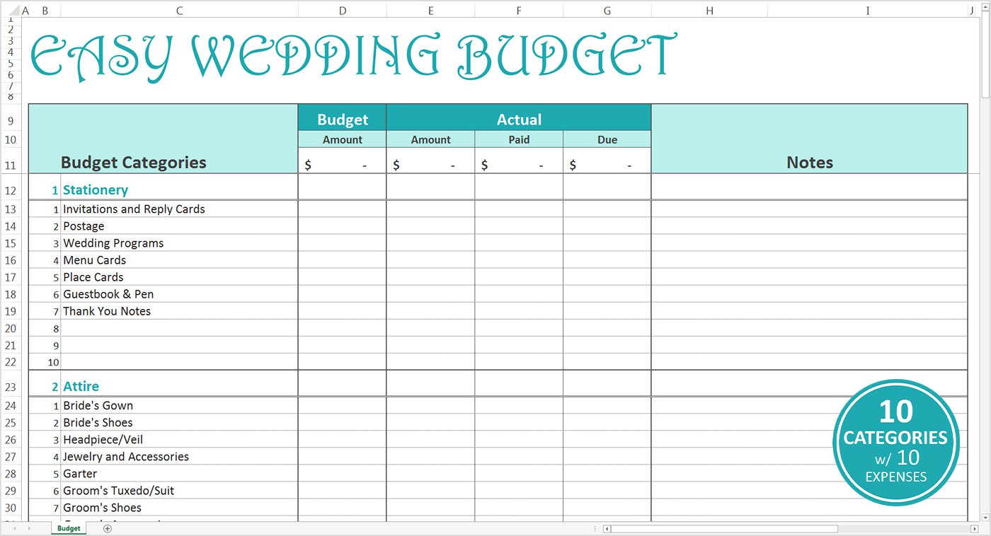 015 20wedding Budget20eadsheet Easy Excel Template