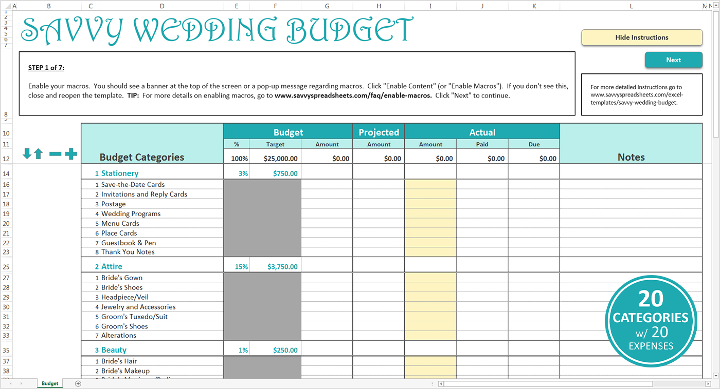 simple wedding budget template   Monza.berglauf verband.com