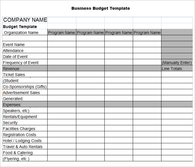 8+ Business Budget Templates   Word, Excel, PDF | Free & Premium