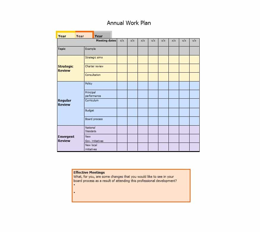 Work Plan   40 Great Templates & Samples (Excel / Word) ᐅ