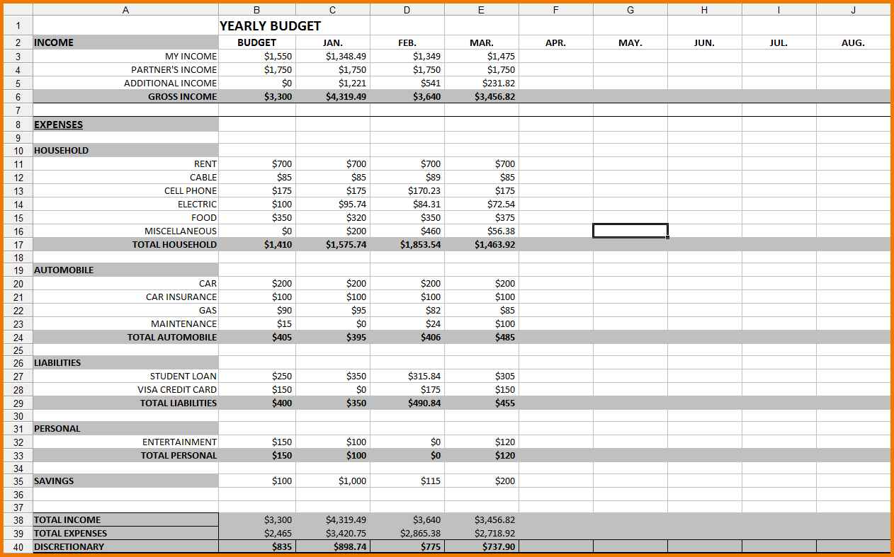 009 Plan Templates Zero Budget Template Based Budgeting And Sample