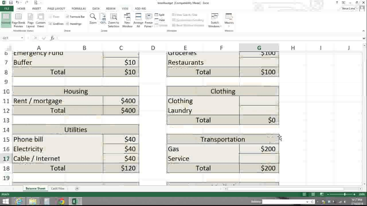 The Ultimate Collection of Free Budget Worksheets, Spreadsheets