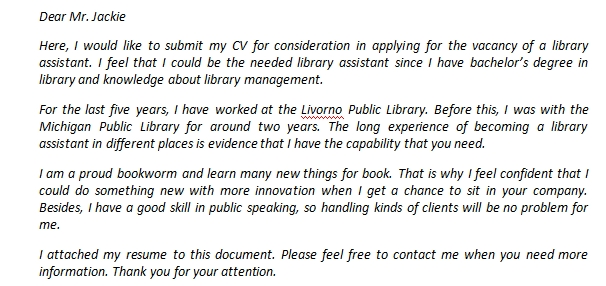 Sample Cover Letter Library Assistant Large Pictures Happy