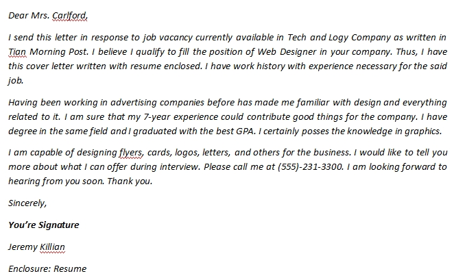 Web Designer Cover Letter And Sample Template Template Creator